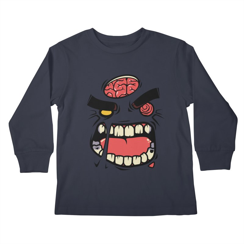 ANGRY ZOMBIE Kids Longsleeve T-Shirt by mankeeboi's Artist Shop