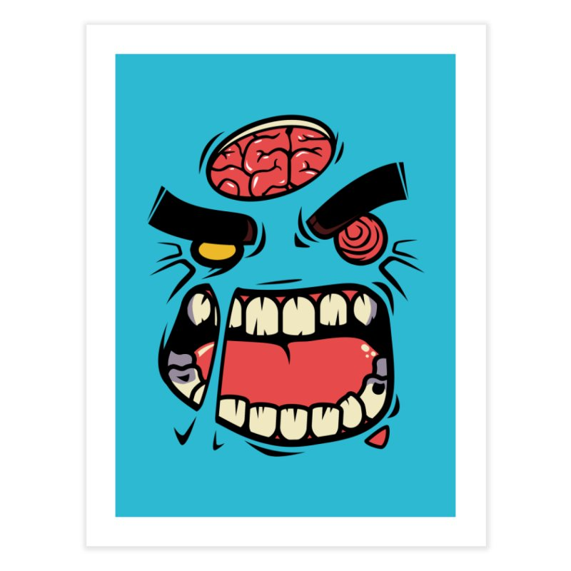 ANGRY ZOMBIE Home Fine Art Print by mankeeboi's Artist Shop