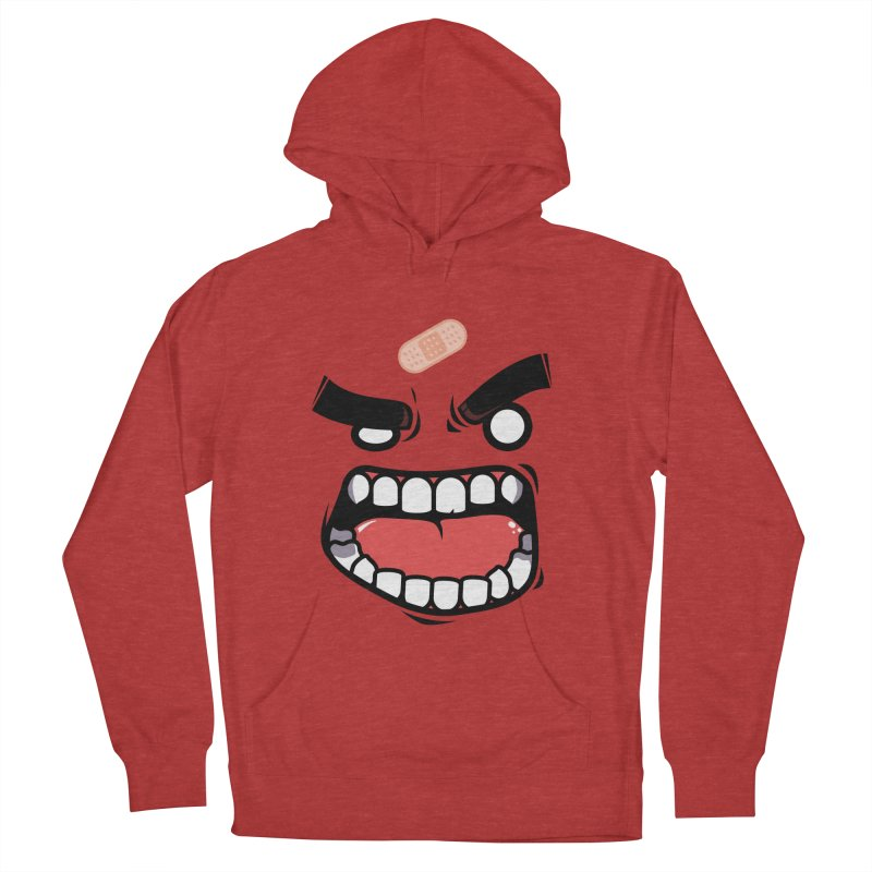 ANGRY TEE Women's French Terry Pullover Hoody by mankeeboi's Artist Shop