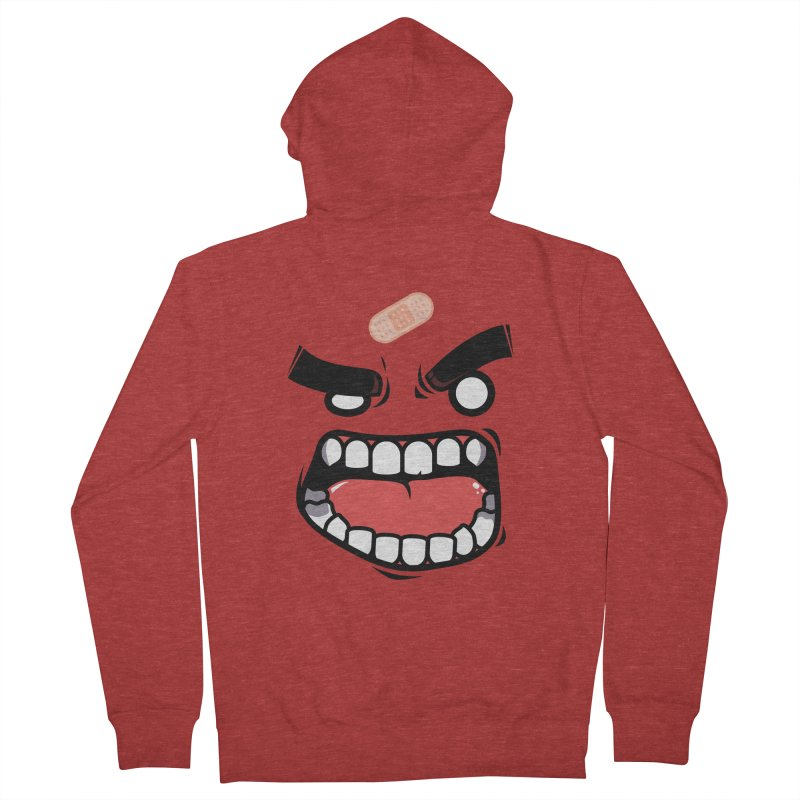 ANGRY TEE Men's Zip-Up Hoody by mankeeboi's Artist Shop