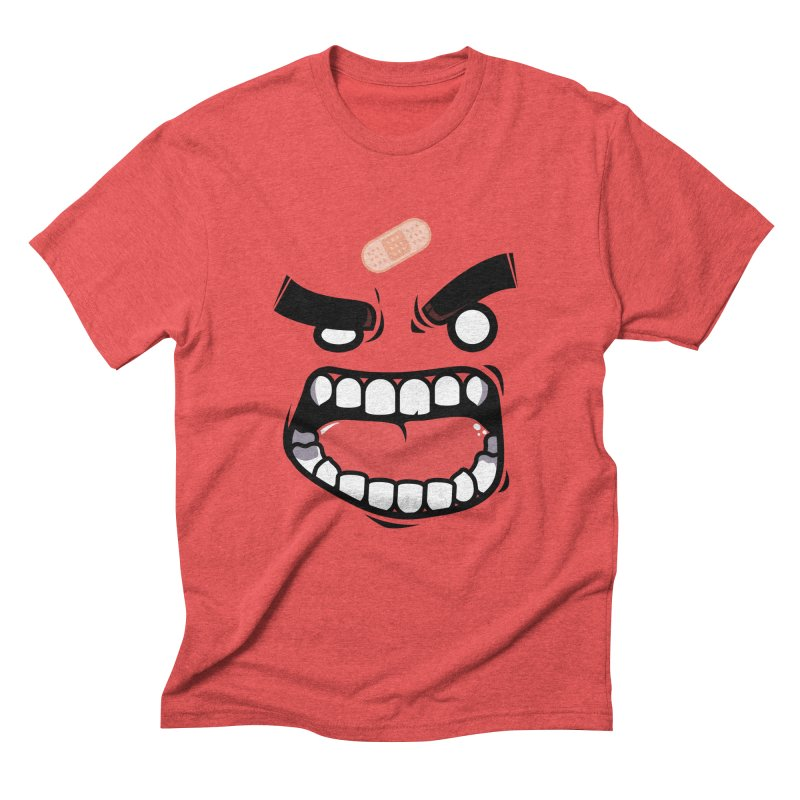 ANGRY TEE Men's Triblend T-shirt by mankeeboi's Artist Shop