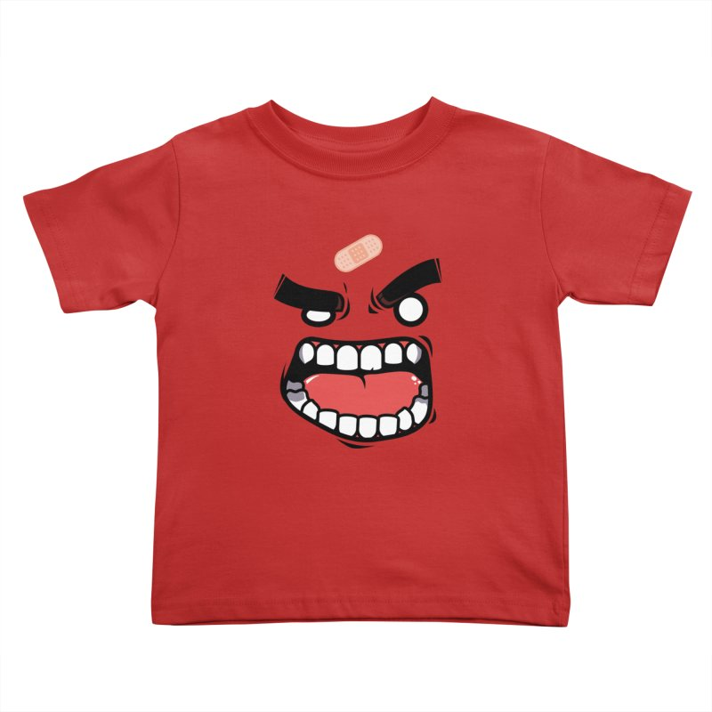 ANGRY TEE Kids Toddler T-Shirt by mankeeboi's Artist Shop