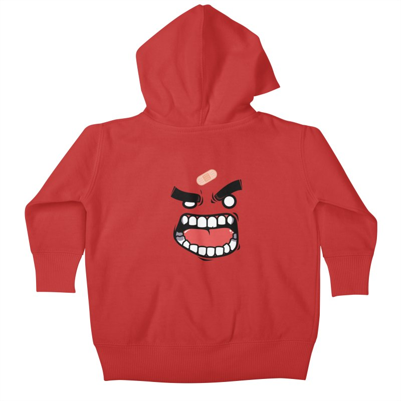 ANGRY TEE Kids Baby Zip-Up Hoody by mankeeboi's Artist Shop