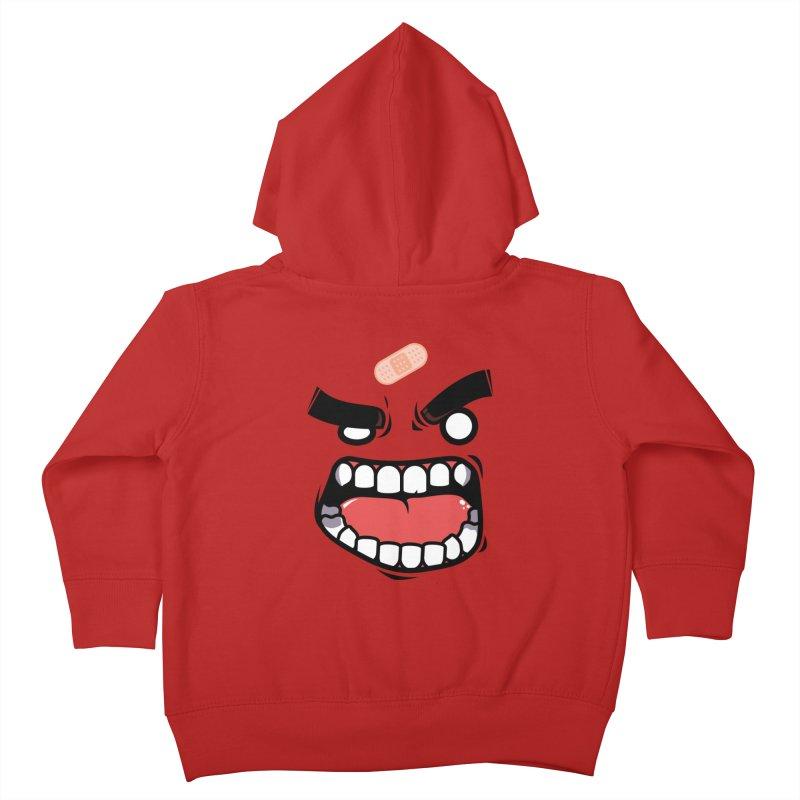 ANGRY TEE Kids Toddler Zip-Up Hoody by mankeeboi's Artist Shop