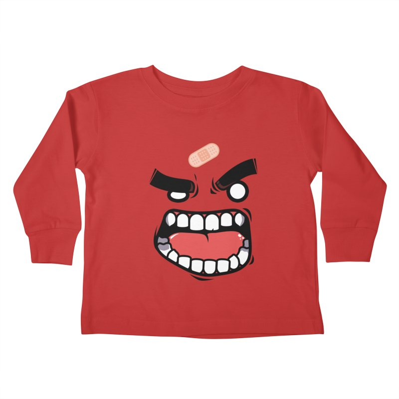 ANGRY TEE Kids Toddler Longsleeve T-Shirt by mankeeboi's Artist Shop
