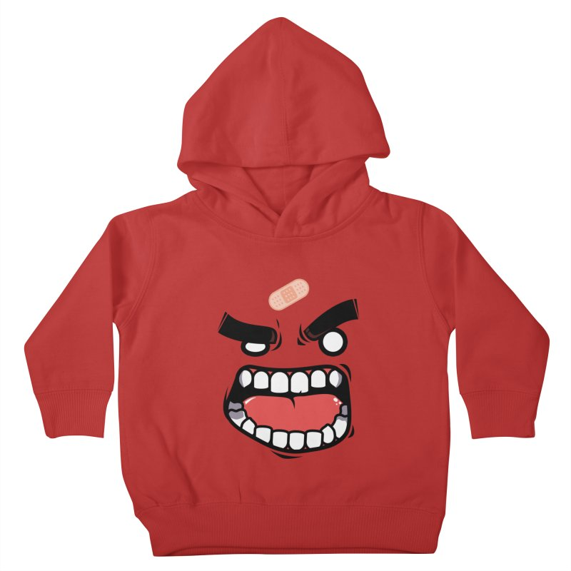 ANGRY TEE Kids Toddler Pullover Hoody by mankeeboi's Artist Shop
