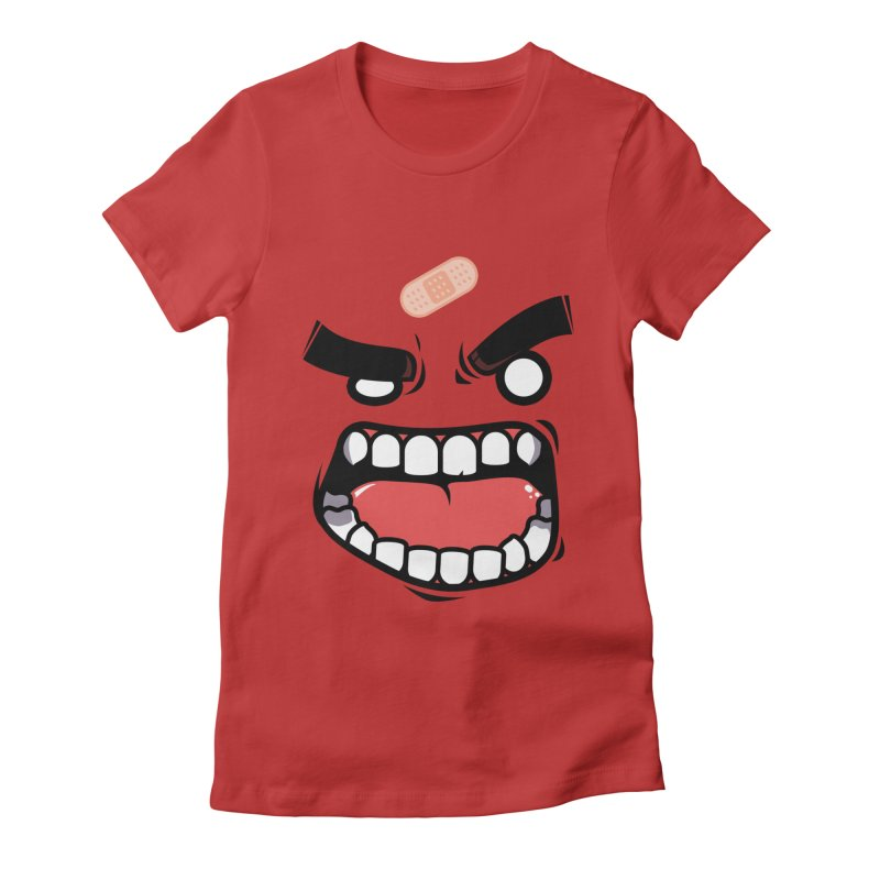 ANGRY TEE Women's Fitted T-Shirt by mankeeboi's Artist Shop