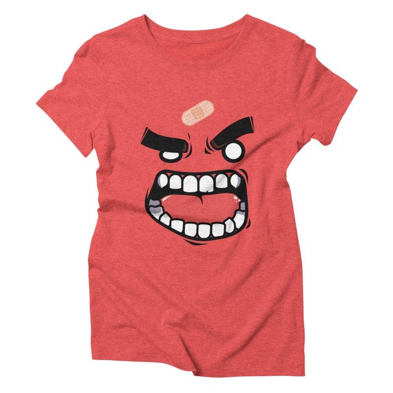 ANGRY TEE Women's Triblend T-Shirt by mankeeboi's Artist Shop