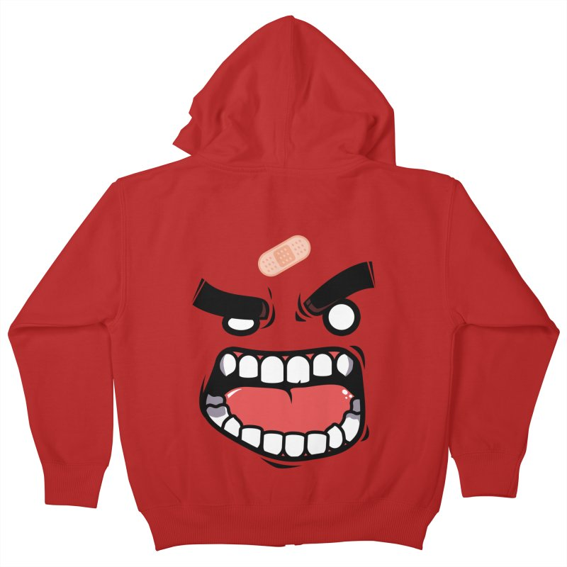 ANGRY TEE Kids Zip-Up Hoody by mankeeboi's Artist Shop