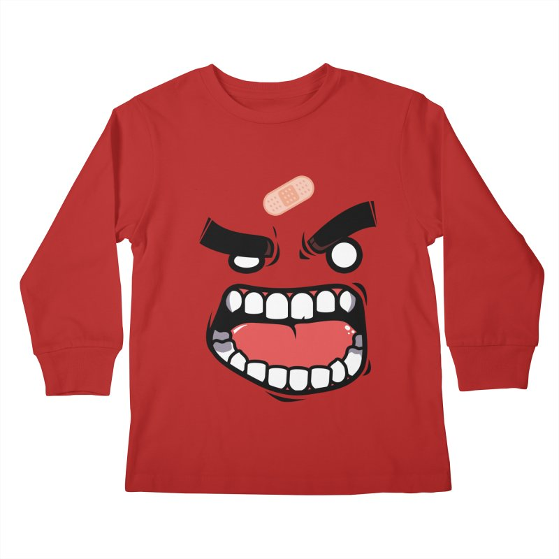 ANGRY TEE Kids Longsleeve T-Shirt by mankeeboi's Artist Shop
