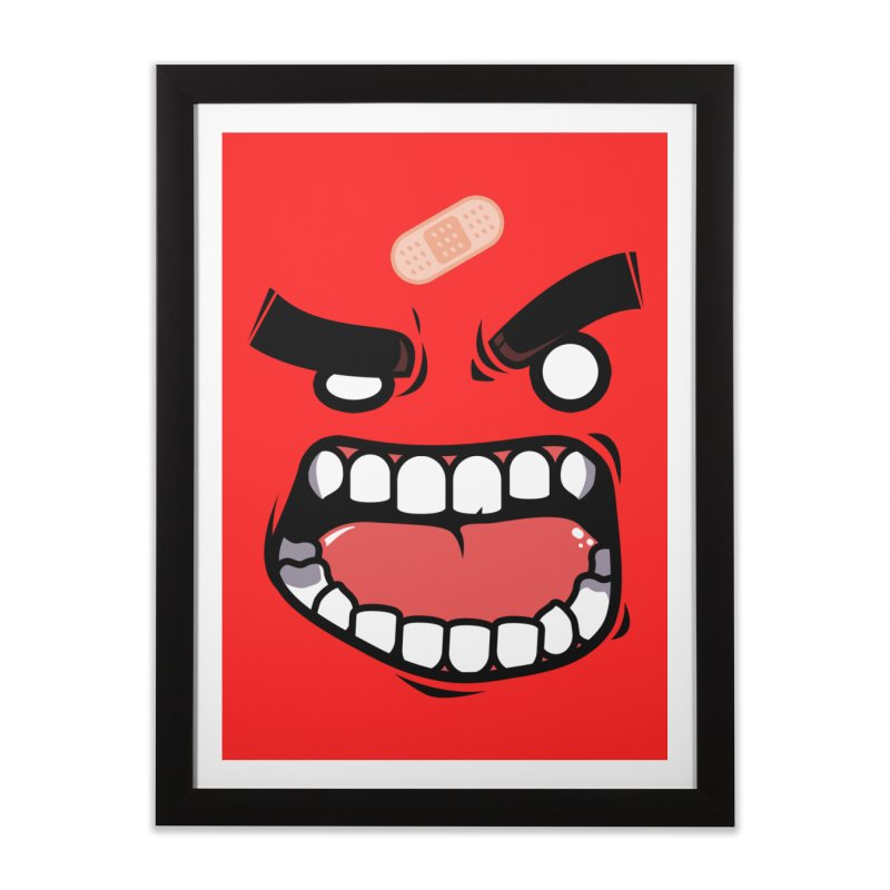 ANGRY TEE Home Framed Fine Art Print by mankeeboi's Artist Shop