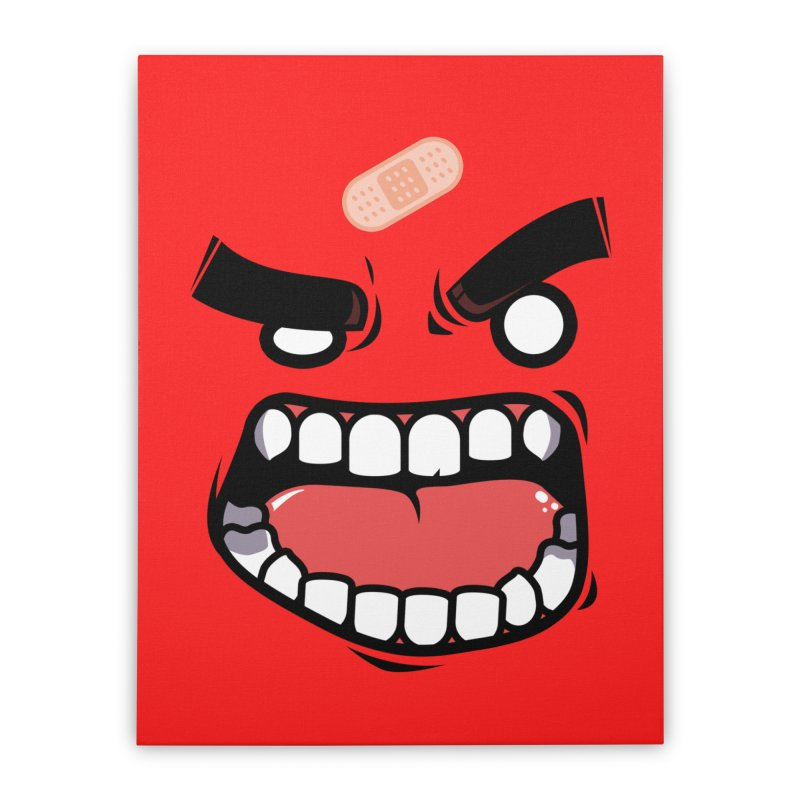 ANGRY TEE Home Stretched Canvas by mankeeboi's Artist Shop