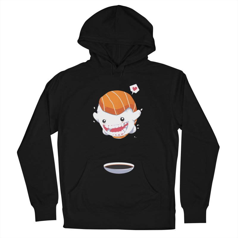 SALMON SUSHI CANNONBALL Women's Pullover Hoody by mankeeboi's Artist Shop