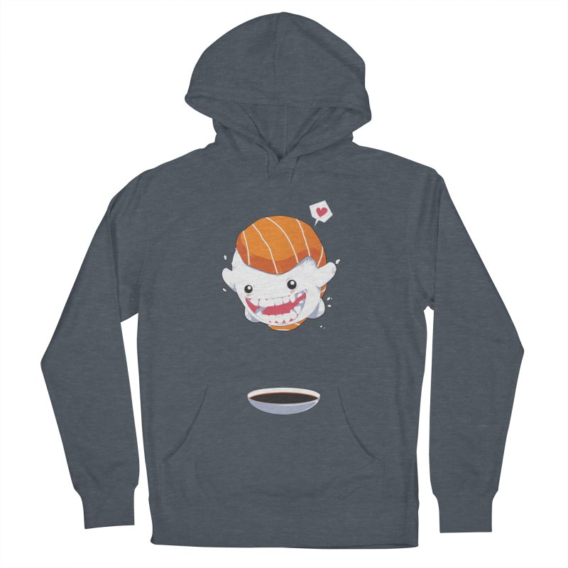 SALMON SUSHI CANNONBALL Men's Pullover Hoody by mankeeboi's Artist Shop