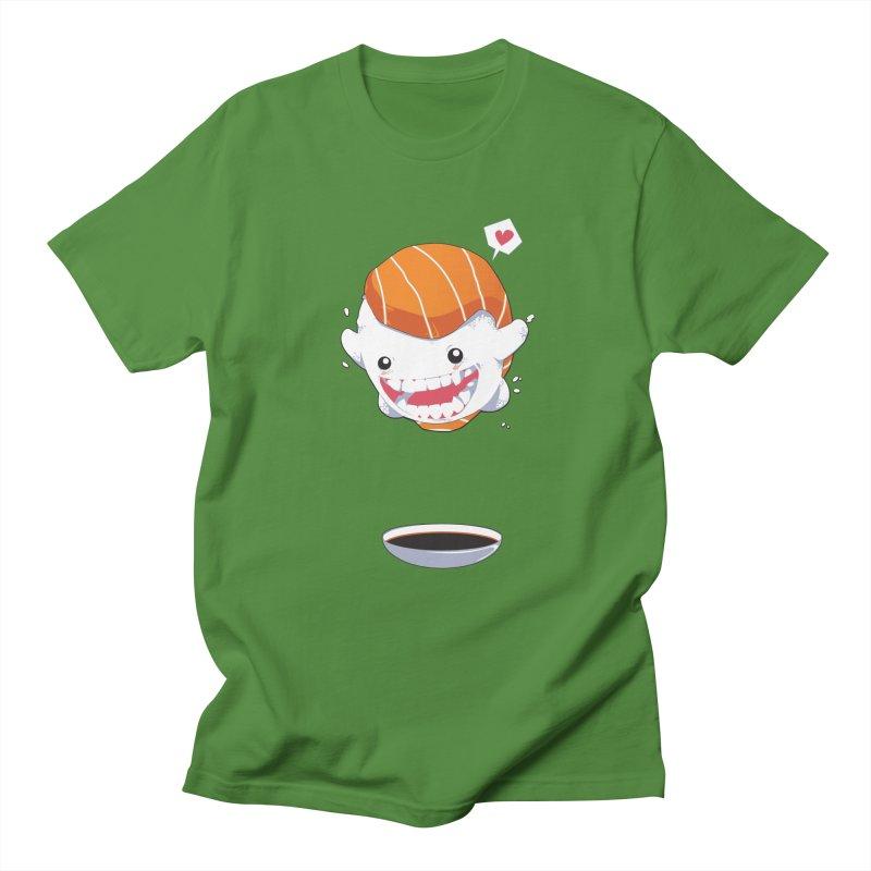 SALMON SUSHI CANNONBALL Men's T-shirt by mankeeboi's Artist Shop