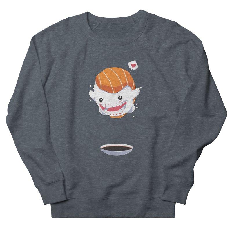 SALMON SUSHI CANNONBALL Women's Sweatshirt by mankeeboi's Artist Shop