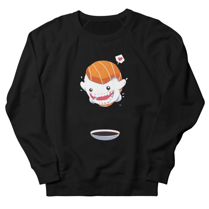 SALMON SUSHI CANNONBALL Women's Sweatshirt by mankeeboi's Artist Shop