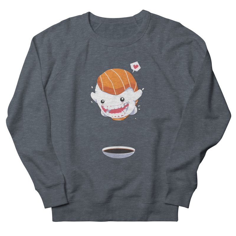 SALMON SUSHI CANNONBALL Men's French Terry Sweatshirt by mankeeboi's Artist Shop