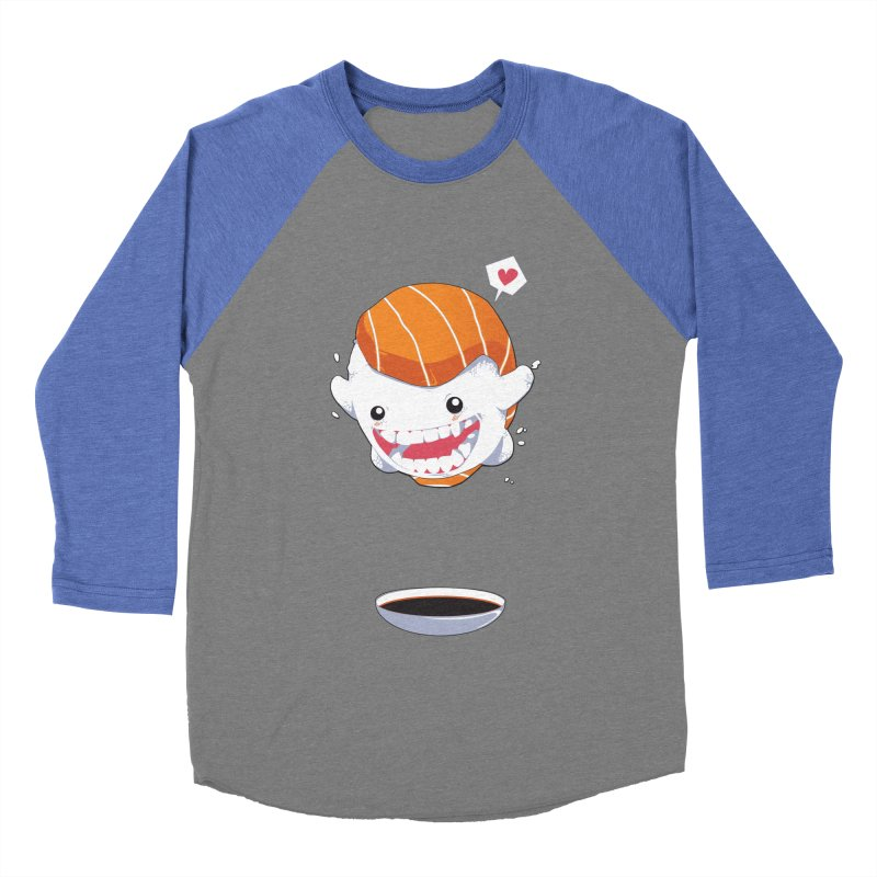 SALMON SUSHI CANNONBALL Women's Baseball Triblend Longsleeve T-Shirt by mankeeboi's Artist Shop