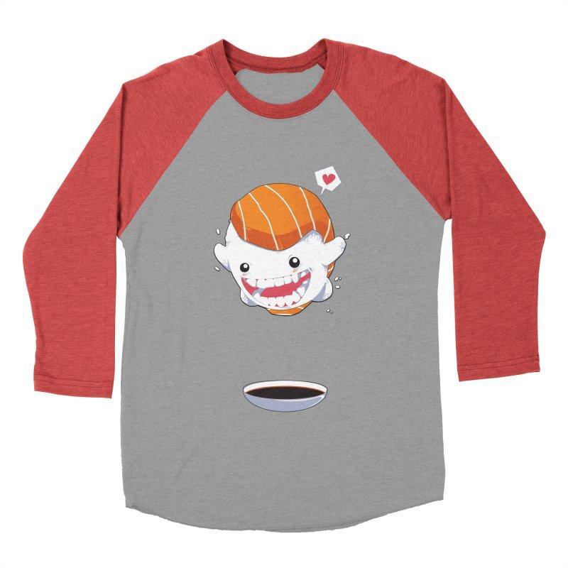 SALMON SUSHI CANNONBALL Women's Baseball Triblend T-Shirt by mankeeboi's Artist Shop