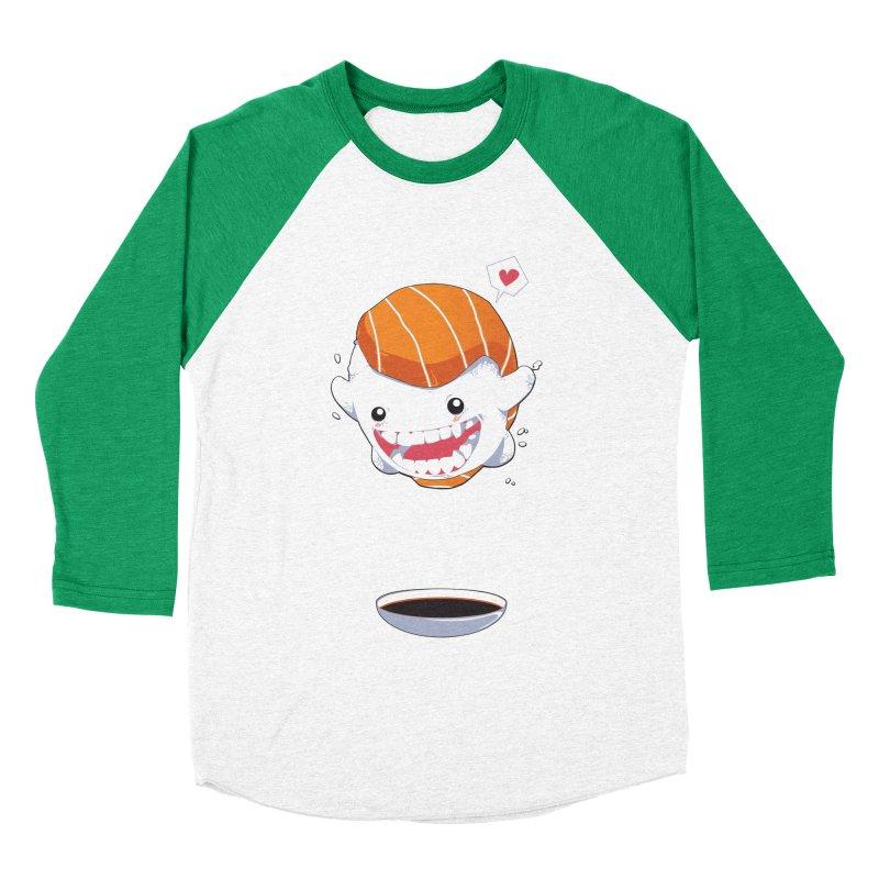 SALMON SUSHI CANNONBALL Men's Baseball Triblend Longsleeve T-Shirt by mankeeboi's Artist Shop