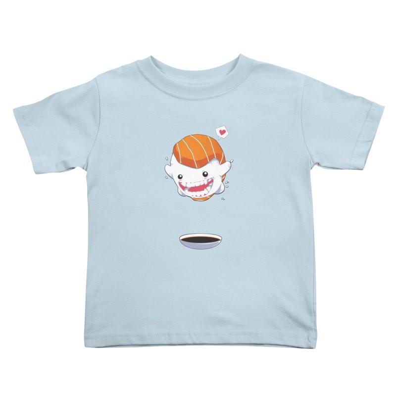 SALMON SUSHI CANNONBALL Kids Toddler T-Shirt by mankeeboi's Artist Shop
