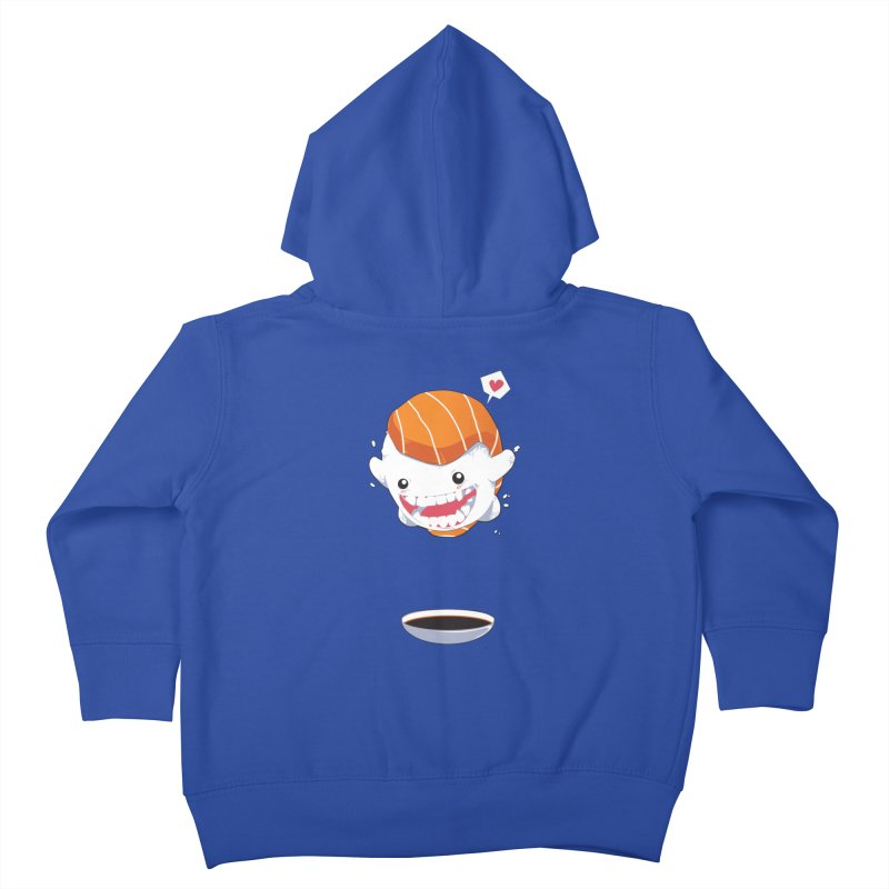 SALMON SUSHI CANNONBALL Kids Toddler Zip-Up Hoody by mankeeboi's Artist Shop