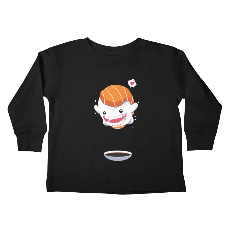 SALMON SUSHI CANNONBALL Kids Toddler Longsleeve T-Shirt by mankeeboi's Artist Shop