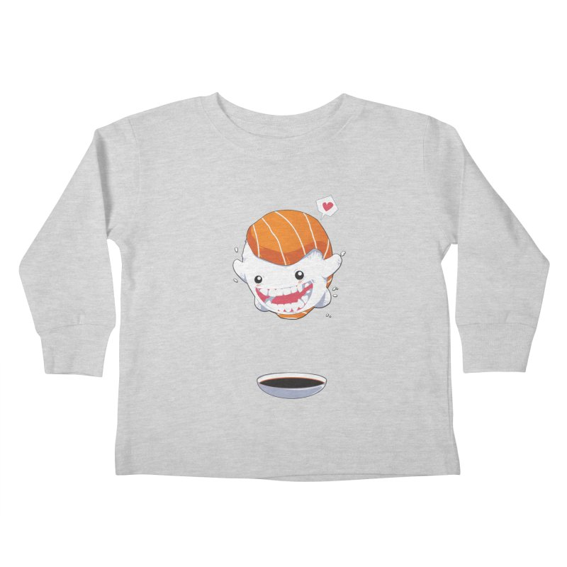 SALMON SUSHI CANNONBALL Kids Toddler Longsleeve T-Shirt by mankeeboi's Artist Shop