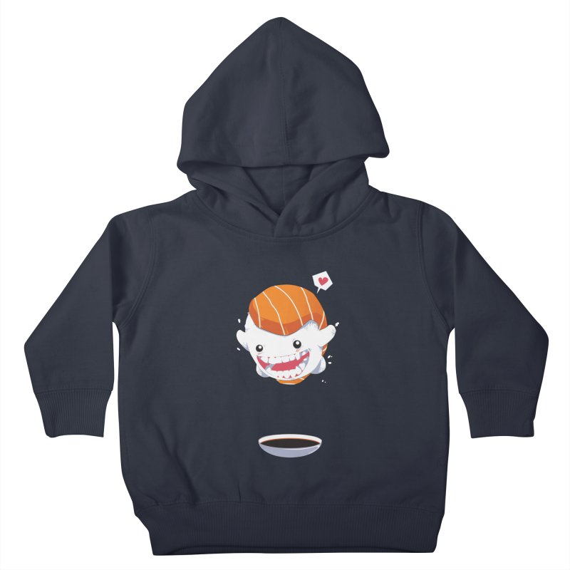 SALMON SUSHI CANNONBALL Kids Toddler Pullover Hoody by mankeeboi's Artist Shop