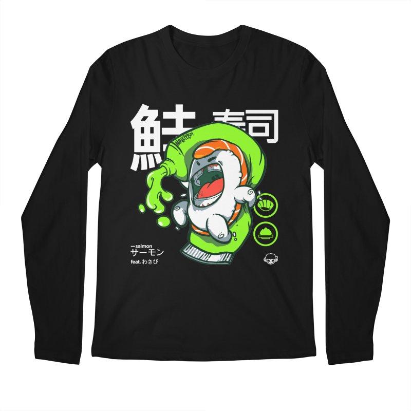 Salmon feat. Wasabi Men's Longsleeve T-Shirt by mankeeboi's Artist Shop