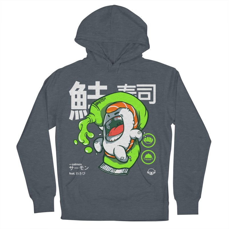 Salmon feat. Wasabi Women's French Terry Pullover Hoody by mankeeboi's Artist Shop