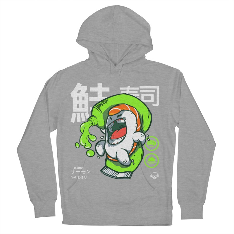 Salmon feat. Wasabi Men's French Terry Pullover Hoody by mankeeboi's Artist Shop