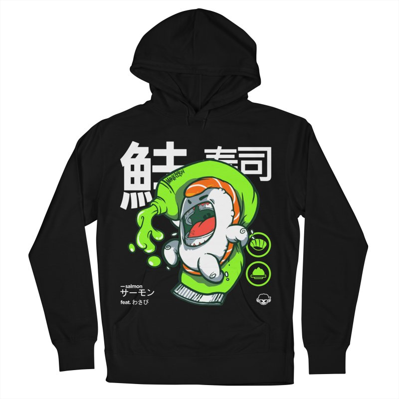 Salmon feat. Wasabi Men's Pullover Hoody by mankeeboi's Artist Shop