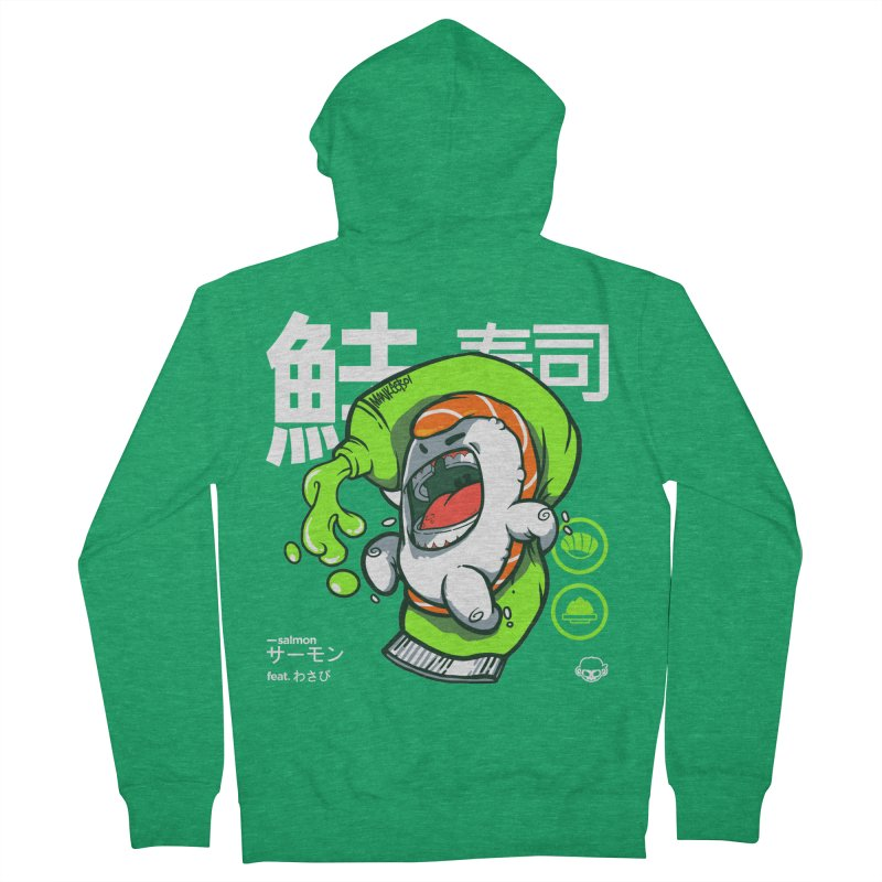 Salmon feat. Wasabi Women's French Terry Zip-Up Hoody by mankeeboi's Artist Shop