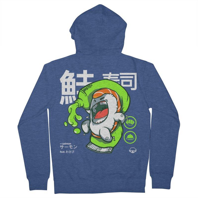 Salmon feat. Wasabi Women's Zip-Up Hoody by mankeeboi's Artist Shop