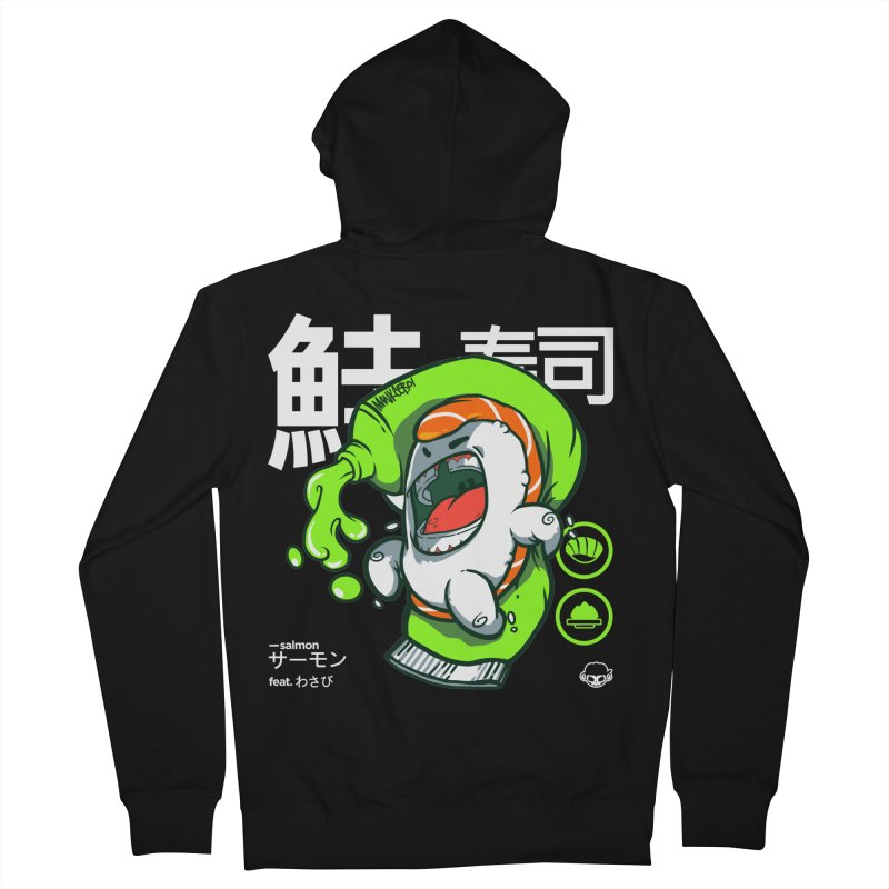 Salmon feat. Wasabi Men's Zip-Up Hoody by mankeeboi's Artist Shop