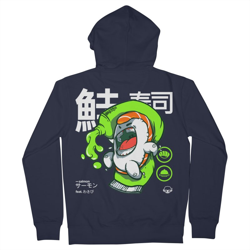 Salmon feat. Wasabi Men's French Terry Zip-Up Hoody by mankeeboi's Artist Shop