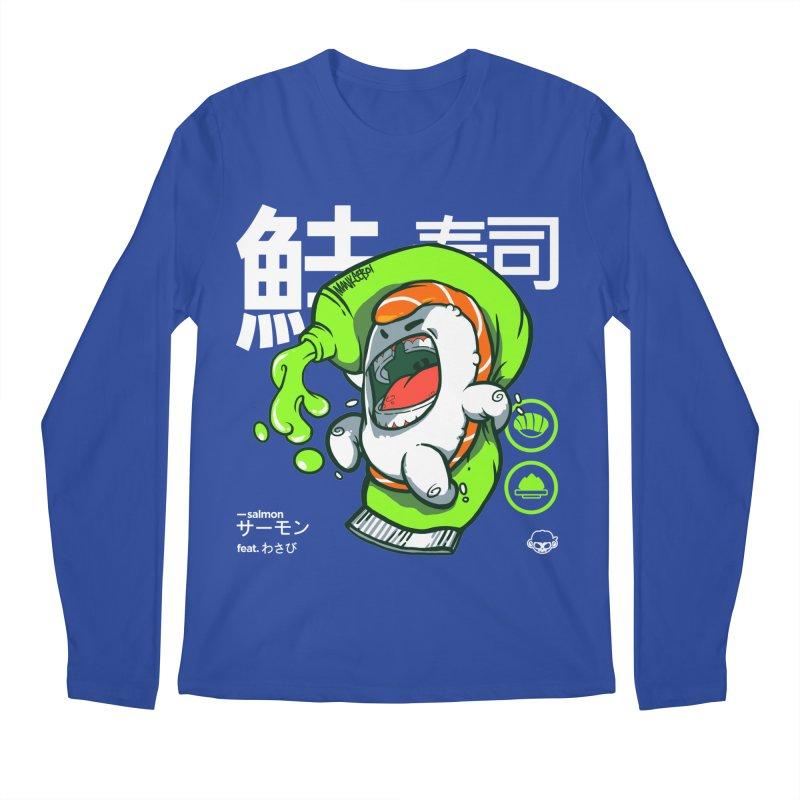 Salmon feat. Wasabi Men's Regular Longsleeve T-Shirt by mankeeboi's Artist Shop