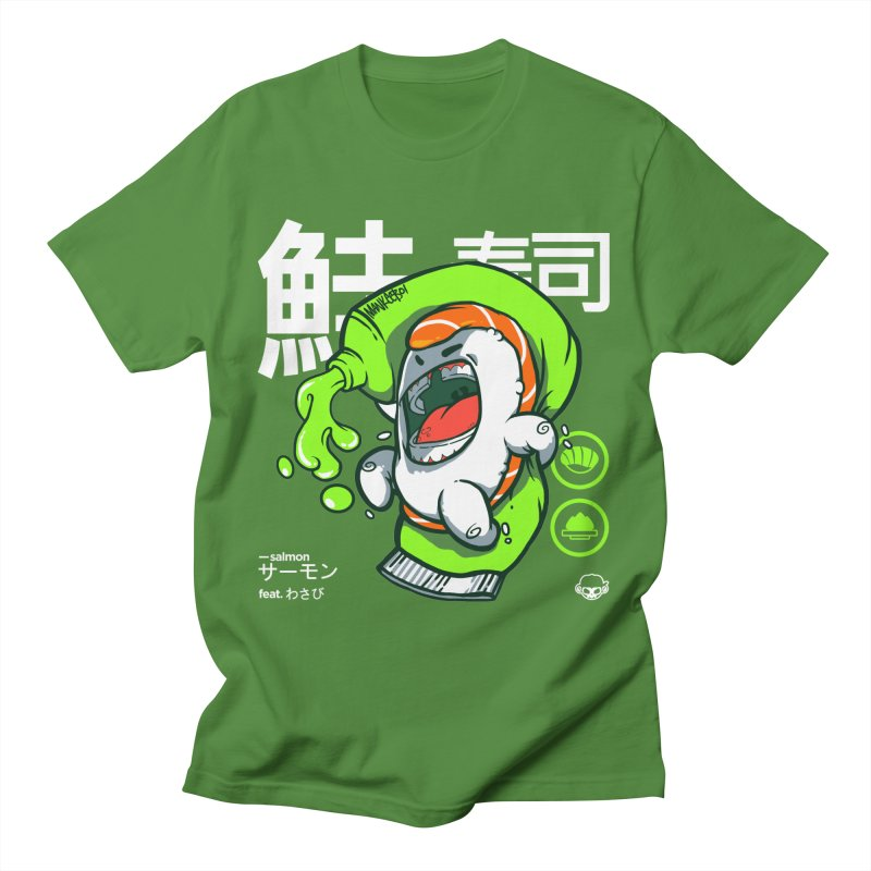 Salmon feat. Wasabi Men's T-Shirt by mankeeboi's Artist Shop