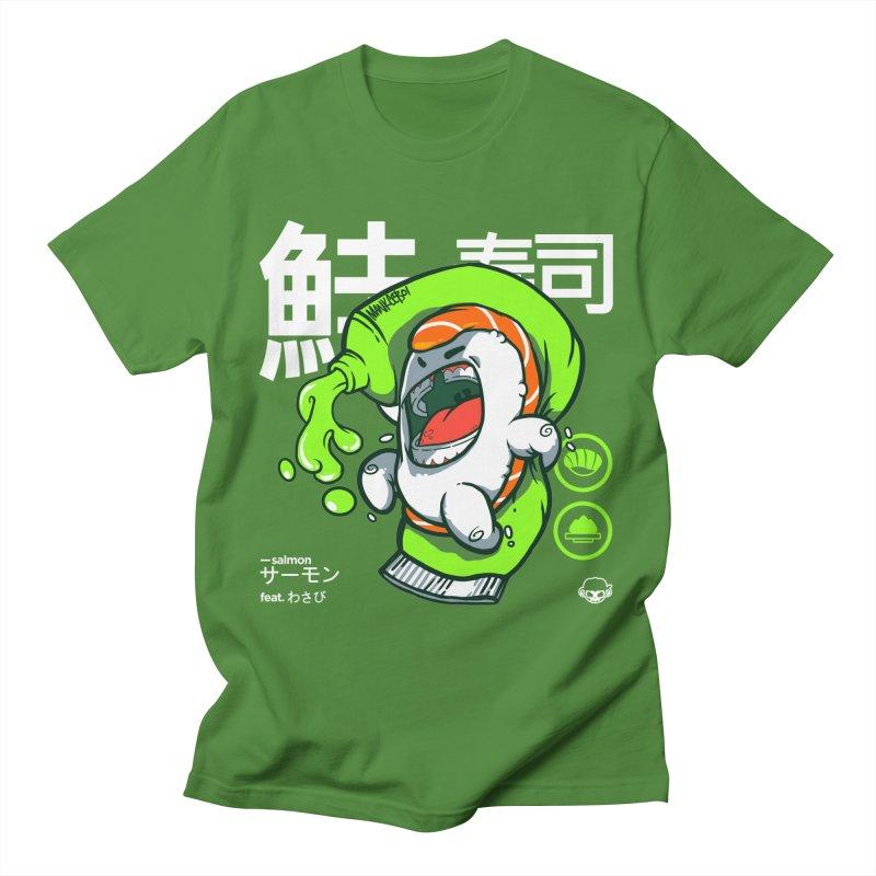 Salmon feat. Wasabi Men's Regular T-Shirt by mankeeboi's Artist Shop