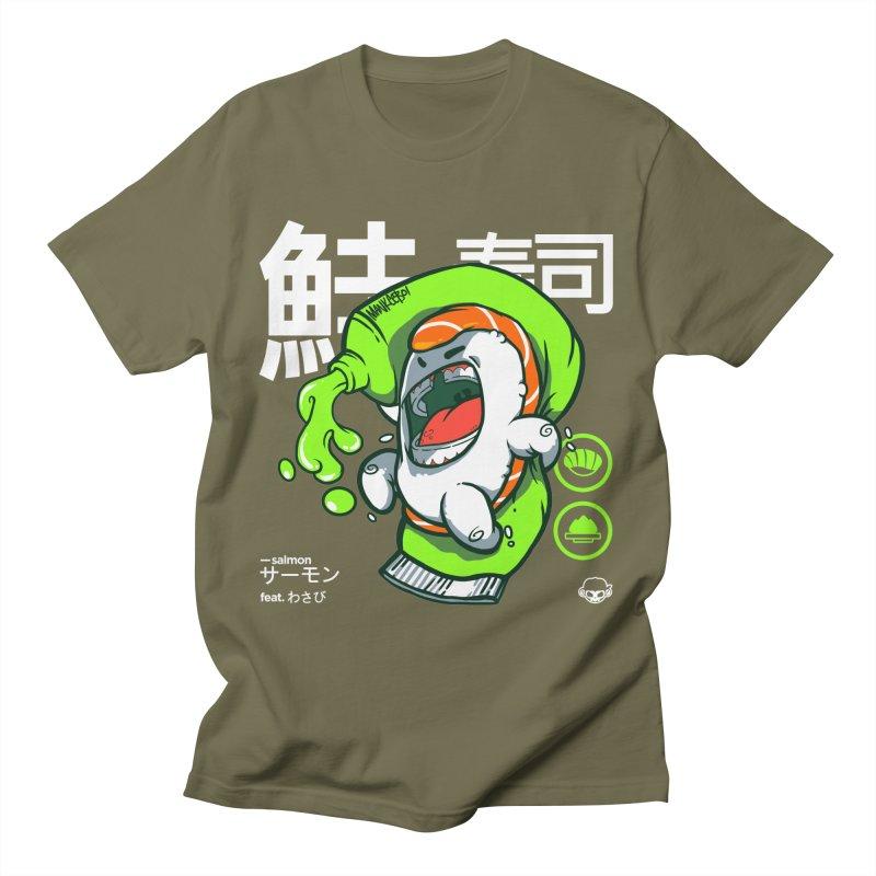 Salmon feat. Wasabi Women's Regular Unisex T-Shirt by mankeeboi's Artist Shop