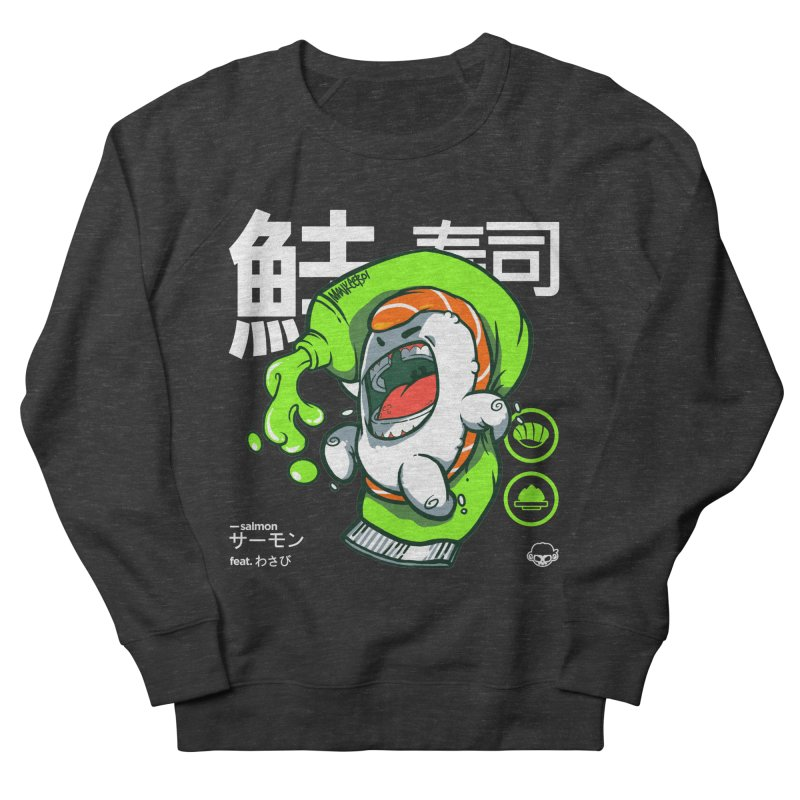 Salmon feat. Wasabi Men's French Terry Sweatshirt by mankeeboi's Artist Shop
