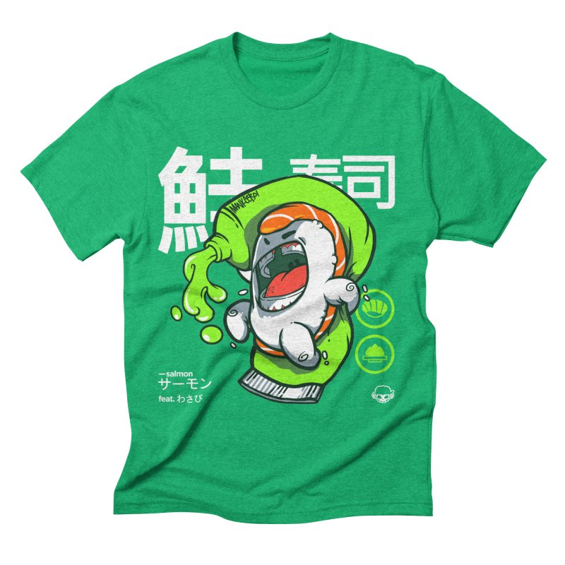 Salmon feat. Wasabi Men's Triblend T-Shirt by mankeeboi's Artist Shop