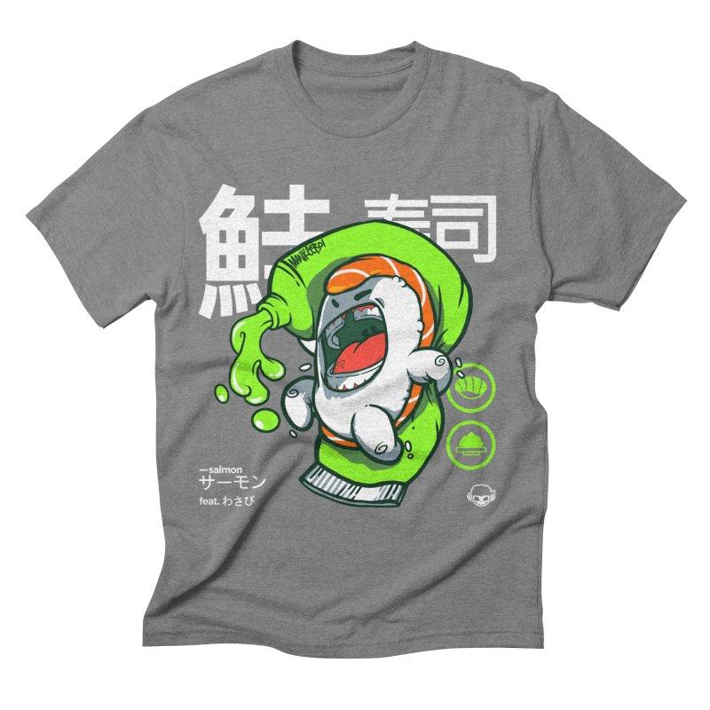 Salmon feat. Wasabi Men's Triblend T-Shirt by mankeeboi's Artist Shop