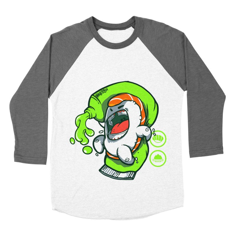 Salmon feat. Wasabi Men's Baseball Triblend T-Shirt by mankeeboi's Artist Shop
