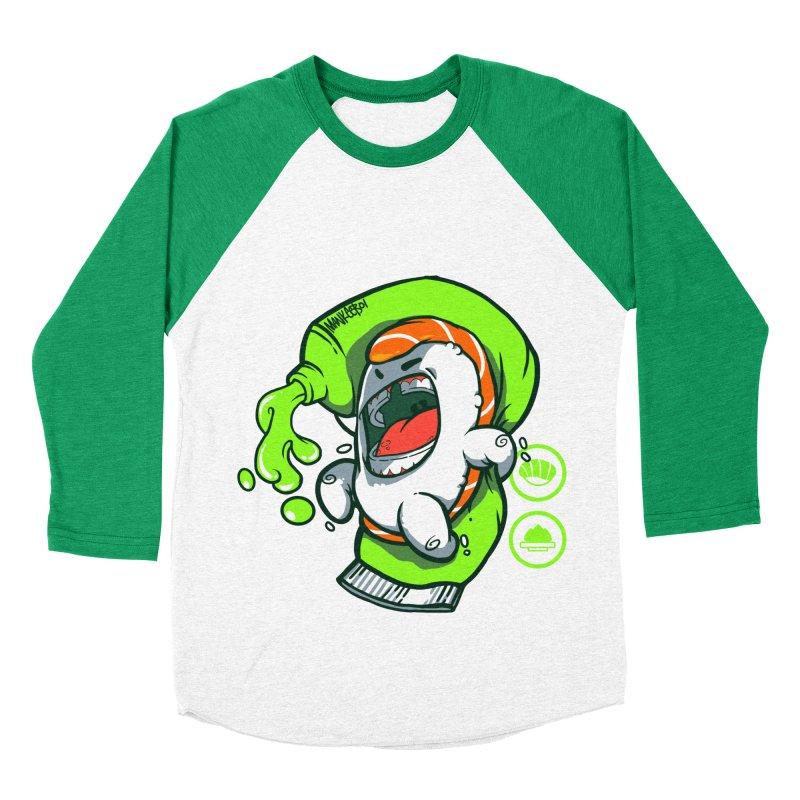 Salmon feat. Wasabi Men's Baseball Triblend T-Shirt by mankeeboi's Artist Shop