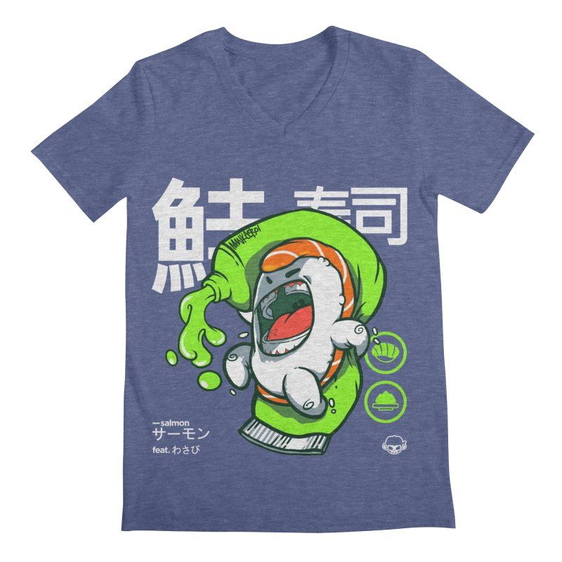 Salmon feat. Wasabi Men's V-Neck by mankeeboi's Artist Shop