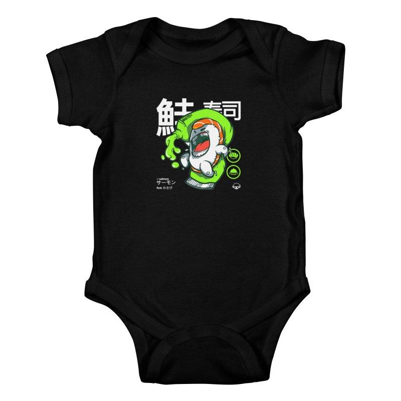 Salmon feat. Wasabi Kids Baby Bodysuit by mankeeboi's Artist Shop