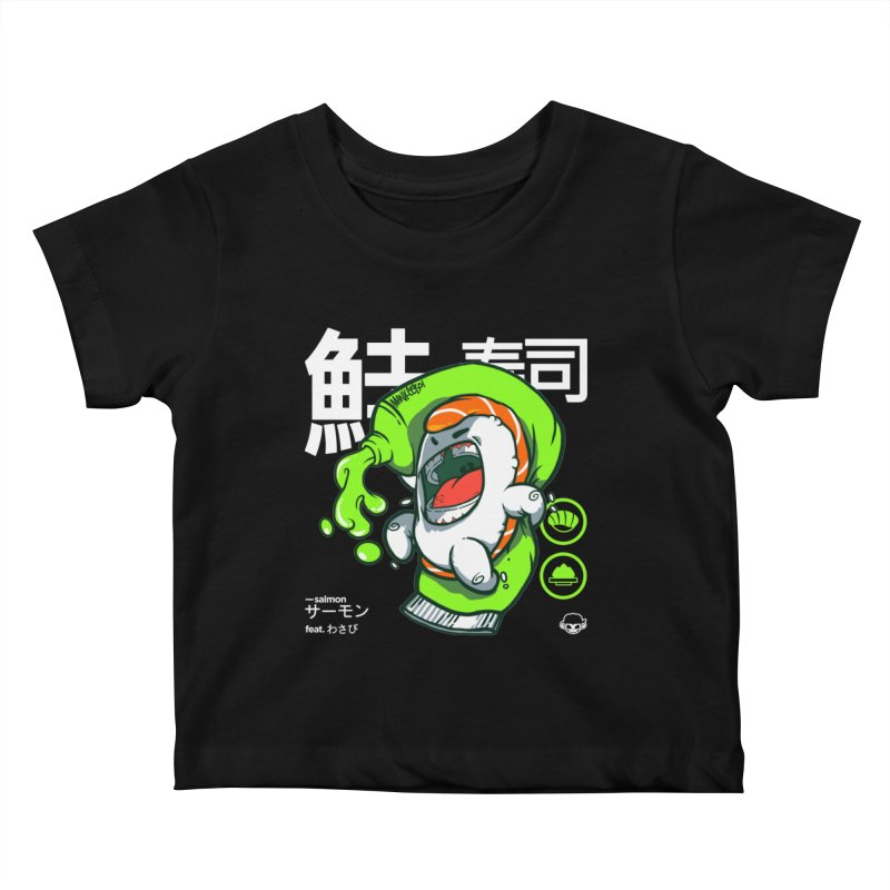 Salmon feat. Wasabi Kids Baby T-Shirt by mankeeboi's Artist Shop
